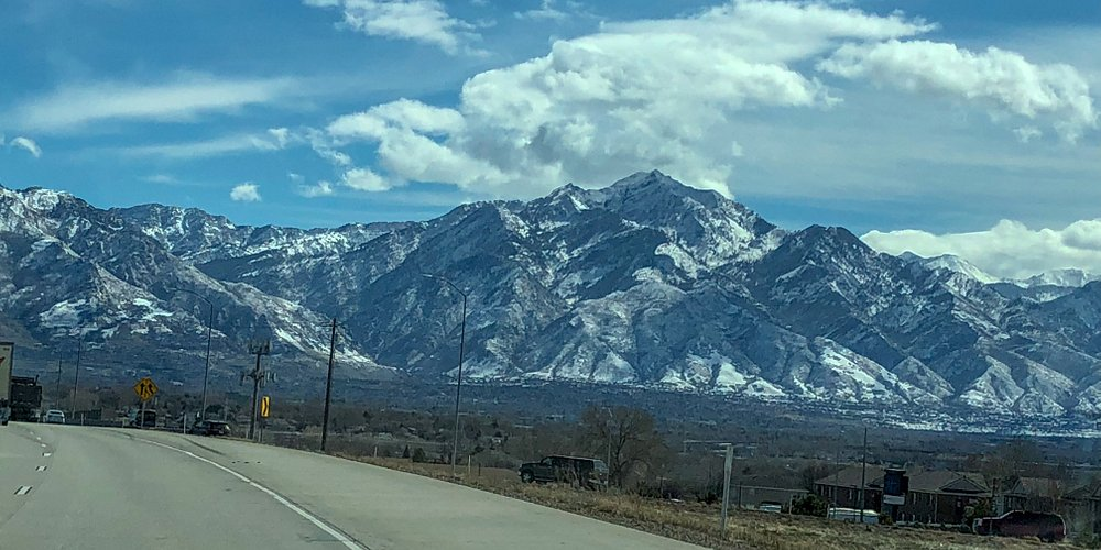 Just a typical site driving south of Salt Lake City!!!