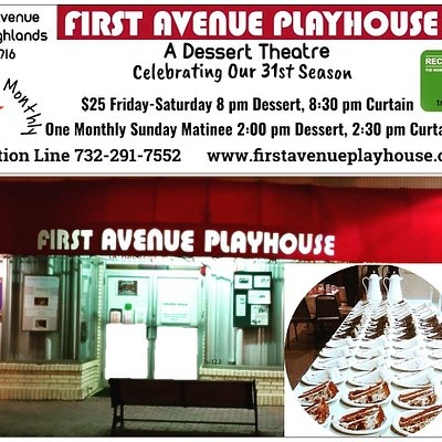 Enjoy this months performance. Comfortable table seating. Delicious cake.