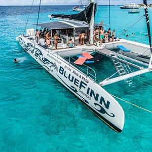 Anchored at Klein Curacao
