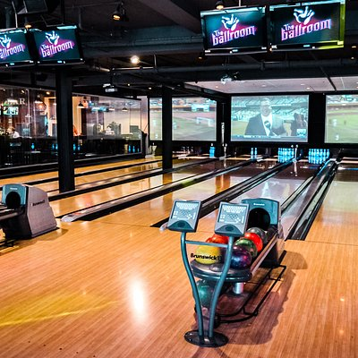 Let's roll... Play 10-pin bowling on one of our nine lanes!
