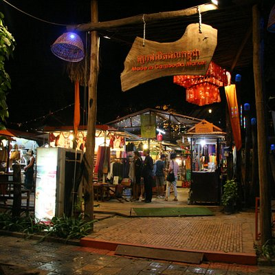 main entrance of Made in Cambodia Market, street 27, Siem Reap Cambodia
