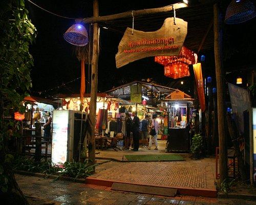 main entrance of Made in Cambodia Market, street 27, Siem Reap Cambodia