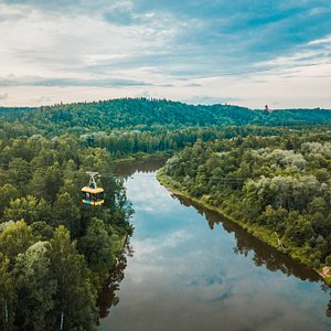 Trip over Gauja valley with Sigulda Cable car