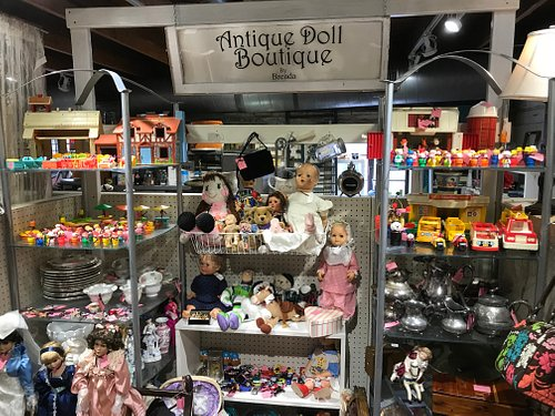 Booth Called Antique Doll Boutique - Adorable Dolls, Fisher Price Little People, China, Silver, Barbies, Vintage Purses and Glassware