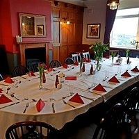Dining Room ready for birthday party.