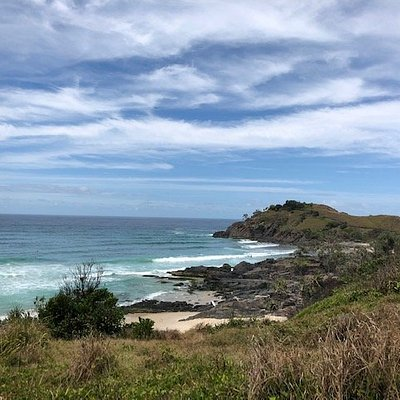 Norries Headland from Cabarita Hill. There is a walking track to enjoy ocean and beach views. Between July and October you are almost guaranteed to spot a pod of whales.