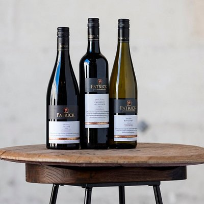 Flagship trio; multi award winning wines. All available for tasting out Cellar Door. From left to Right: Joanna Shiraz 2013, Home Block Cabernet 2013, Aged Riesling 2012. All aged for a minimum of 5 years prior to release.