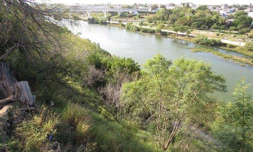 Looking across the Rio Grande to Mexico