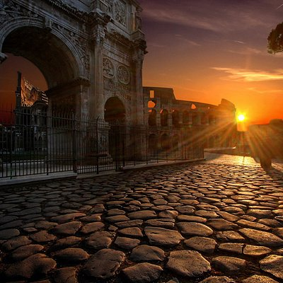 Sunset at Colosseum