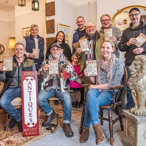 Antique Dealers gather for the launch of the Antiques Trail
