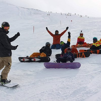 Snowboard Instructor on track