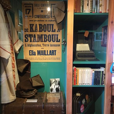 artifacts from her travels and books she authored