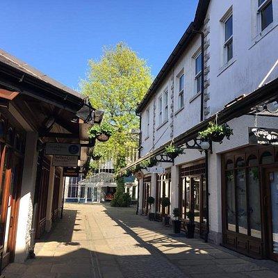 Blackhall Yard in the sunshine.