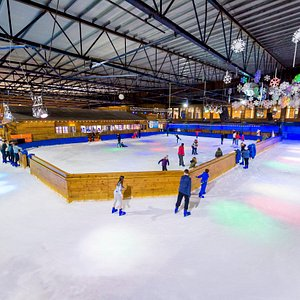 Ice skate around the UK's only ice track.