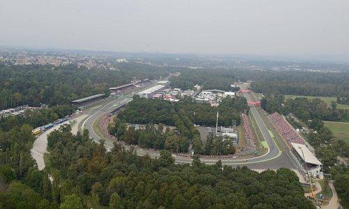 La curva Parabolica dell'Autodromo