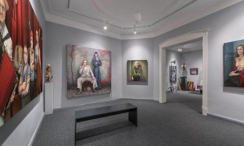 Blick in die Galerieräume der Atelier-Galerie Jürgens