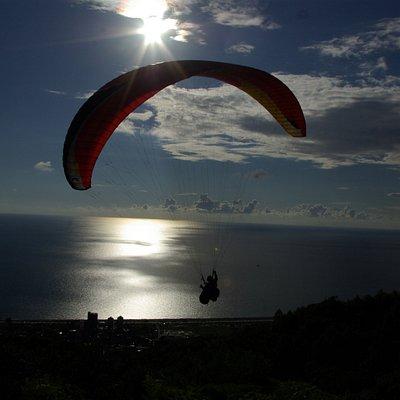 Sunset paragliding in Batumi