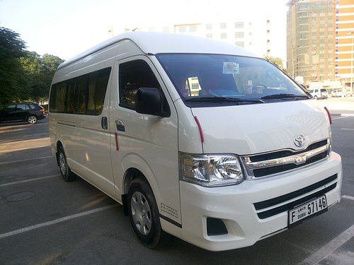 this is van when we hire a van for abu dhabi tour