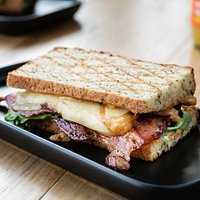 Bacon & Cheese Spicy Chipotle with our House-made Gluten Free Chia Bread.