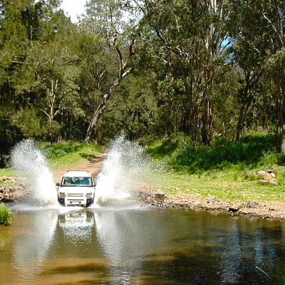 Stunning, remote 4WD track through Cambanoora Gorge aka Condamine River Gorge aka '14 River Crossings Road'. 2 hours from Brisbane through the gorgeous Scenic Rim - a perfect Aussie experience - and again - away from the crowds. Look out for the wildlife and ancient volcanic mountains.