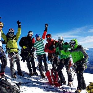 Climbing Cordillera Blanca Nev. Tocllaraju 6034m. sucsesful Summit  www.andesclimbingexpeditions.com Adventures & Expeditions