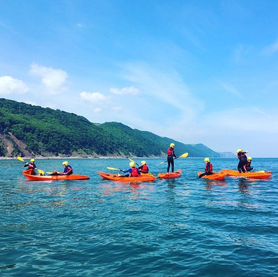 Kayaking across Porlock Bay