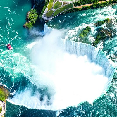 Niagara Falls view from Zoom Tours Helicopter over the Falls