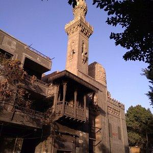 The facade of the mosque overlooking Al Saleeba Street