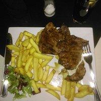Pork steak & chips