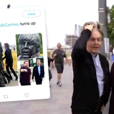 The day Paul McCartney showed up on my tour and they used my tweet in Carpool Karaoke! Still buzzing from that  day :)