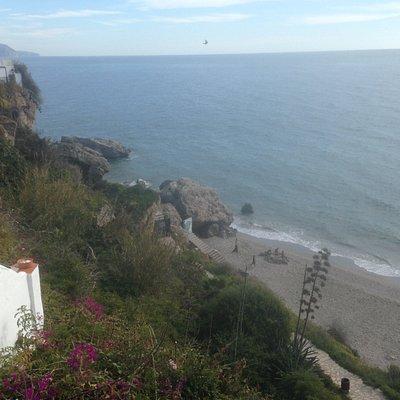 Looking north across Playa Carabeo