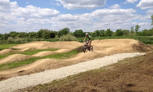 Visit the Bison Hump Pump Track on the west side property.
