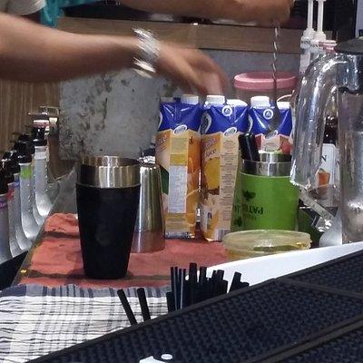 Making of the mocktails