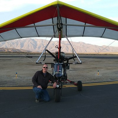 Our aircraft. A one passenger powered hang glider. The most fun and easy aircraft to fly!