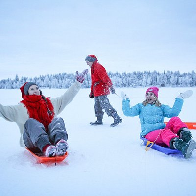Sledging with the elves
