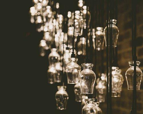 Glencairn whisky glass chandelier.