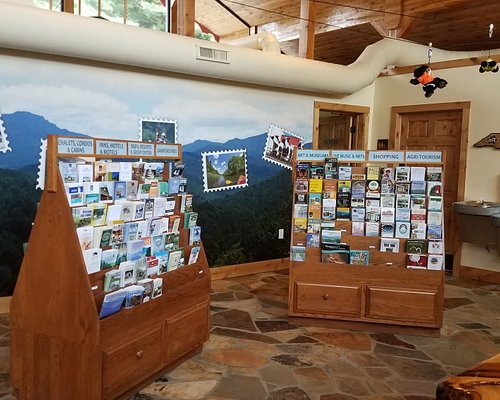 NC High Country Visitor Center, Blowing Rock NC Brochure Area, Water Bottle Filling Station, Clean Public Restrooms