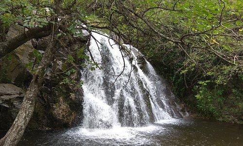 Cascada y mirador de la reserva