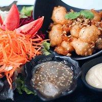 Garlic Pepper Tofu Salad