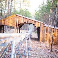 Coast thru our barn lit tunnel.