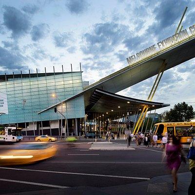 Clarendon Street - entrance to the Melbourne Exhibition Centre.