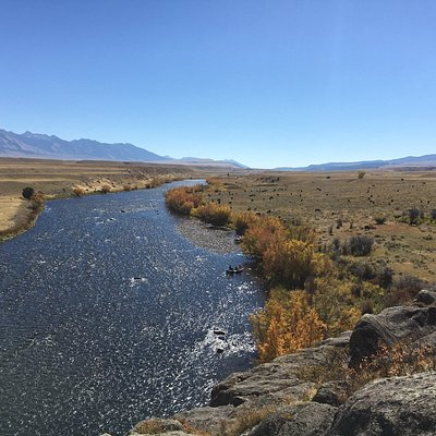An early fall day on the upper Madison River. Photo taken looking south from the Ruby Rocks.