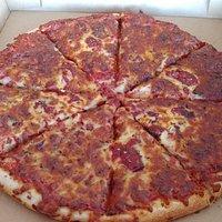burnt pizza