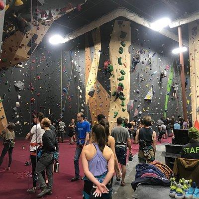 main lead-climbing area