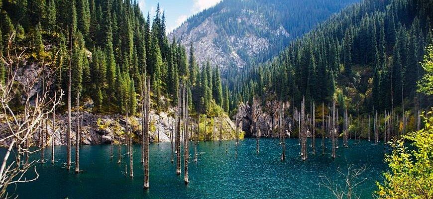 Озеро Каинды-популярное место туризма в одном из ущелий Кунгей Алатау. Несмотря на низкую температуру воды, озеро Каинды пользуется успехом у любителей дайвинга. Главная достопримечательность озера это ели, поднимающиеся прямо из воды.