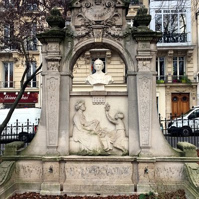 Fontaine Octave Greard at Square Paul-Painlevé