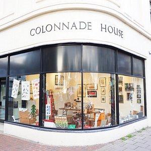 Colonnade House art gallery.