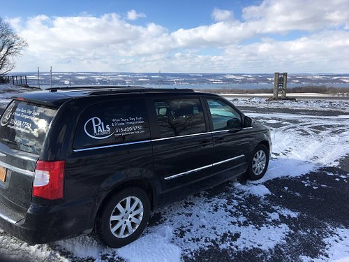 Winter tours are always great! Icy day view of Seneca Lake from Idol Ridge Winery