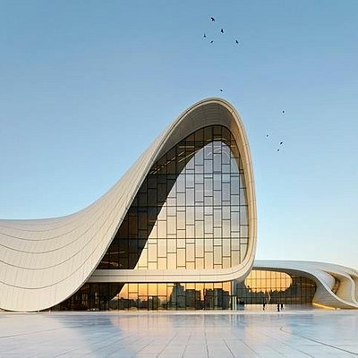 Heydar Aliyev Center by Zaha Hadid ( exterior photo )