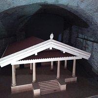 The wooden model of the Ortaglia sanctuary